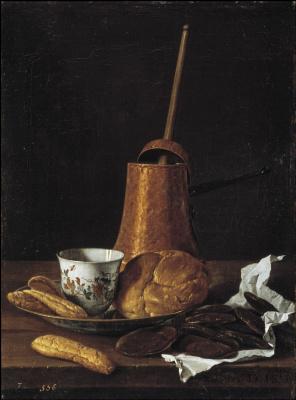 Луис Мелендес. Натюрморт с шоколадом и выпечкой