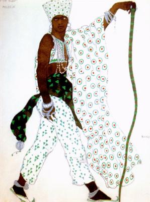 "Lev (Leon) Bakst. Pilgrim. Costume design for the ballet ""Blue God"""