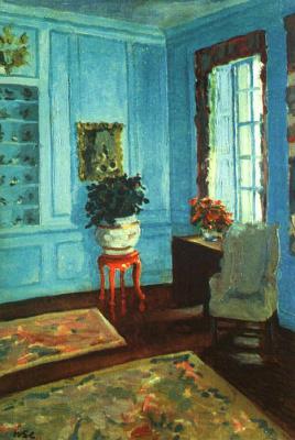 Winston Churchill. The interior of the room near the window