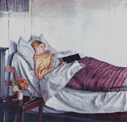 Микаэль Питер Анкер. Больная девочка