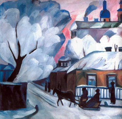 Natalia Goncharova. Winter in Moscow