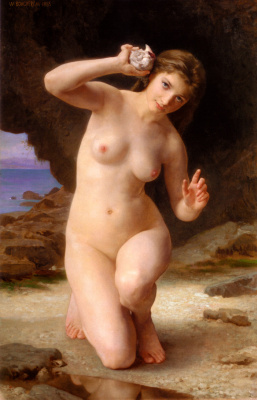 William-Adolphe Bouguereau. Woman with shell