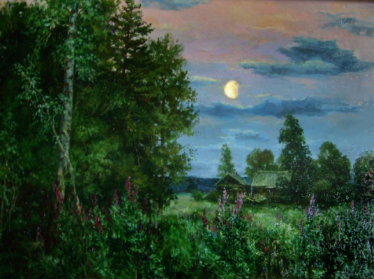 Victor Vladimirovich Kuryanov. The moon over the edge