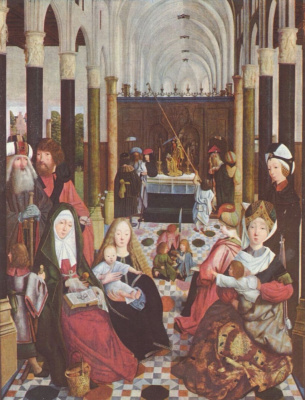 Hertgen the one Sint-Jans. Holy family