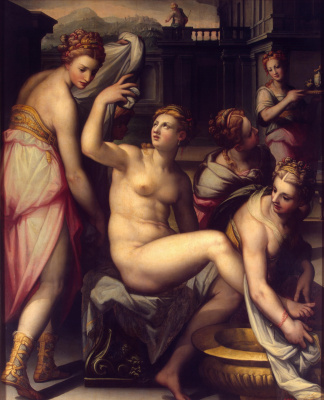 Giovanni Battista Naldini. Bathsheba in the bath