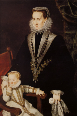Sofonisba Anguissola. Dona Maria Manrique de Lara with her daughter