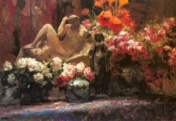 Альфред Бастьен. Цветочный натюрморт