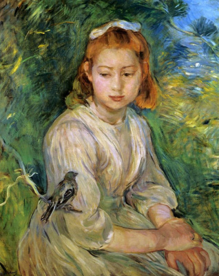 Berthe Morisot. Girl with a bird