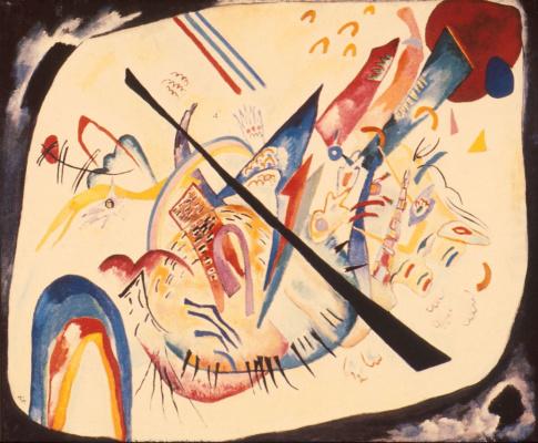 Wassily Kandinsky. White oval