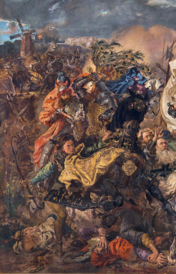 Ян Матейко. Битва при Грюнвальде. Фрагмент