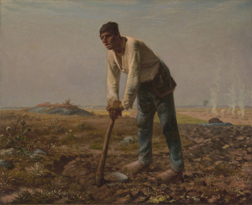 Jean-François Millet. Man with hoe