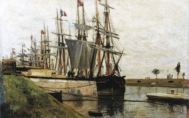 Alexey Petrovich Bogolyubov. Quay in Saint-Valery