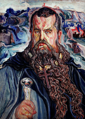 """Алексей (Олекса) Новаковский. """"Moses"""". Portrait of Metropolitan Andrey Sheptytsky"""