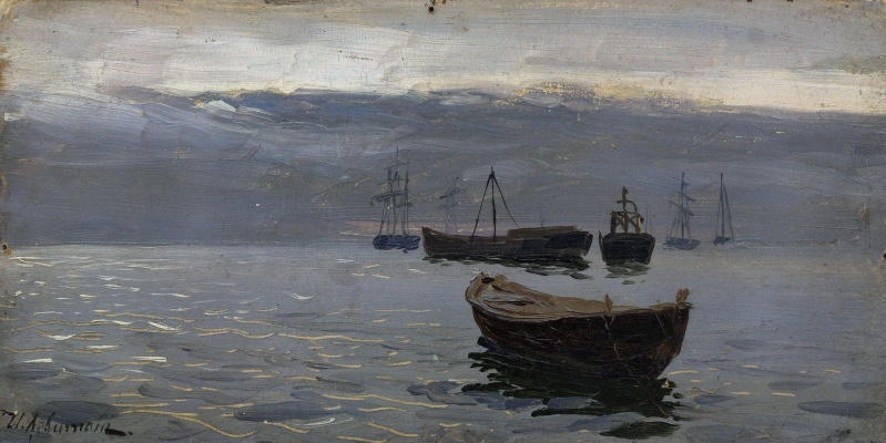 Isaac Levitan. On The Volga River. The evening