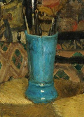 Валентин Александрович Серов. Синяя ваза с кистями
