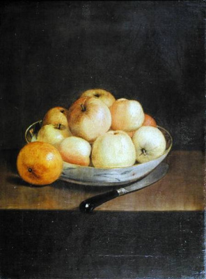 Jean-Etienne Lyotard. Still life with apples