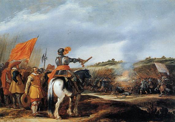 Adrian van de Velde. Battle