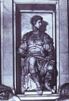 Микеланджело Буонарроти. Гробница Джулиано Медичи