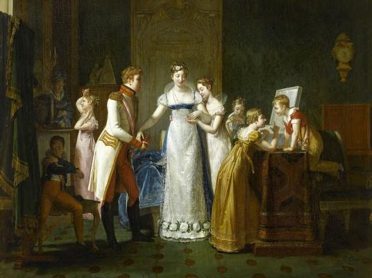 Полина Озу. Прощание Марии-Луизы с семьей 13 марта 1810 года