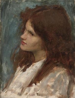 John William Waterhouse. Mermaid. Sketch