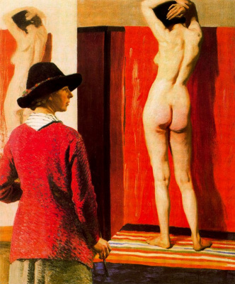Laura Knight. Nude model