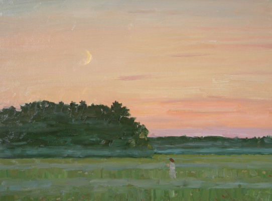 Евгений Александрович Казанцев. Late evening. In field.