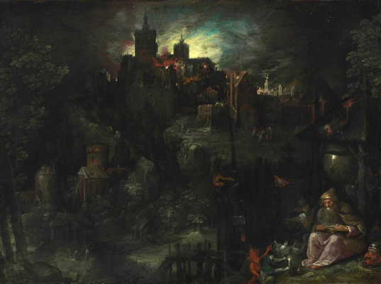 Frans Franken the Younger. The temptation of St. Anthony. 1604