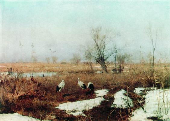 Sergey Ivanovich Svetoslavsky. The beginning of spring. 1895