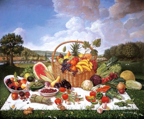 Тереза Фасолино. Корзина с фруктами