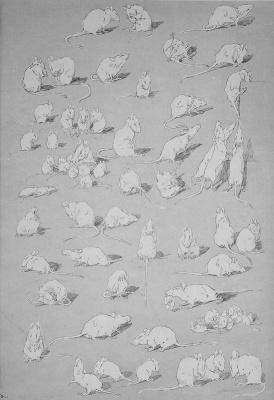 Теофиль-Александр Стейнлен. Кошки: картины без слов. Белые мыши