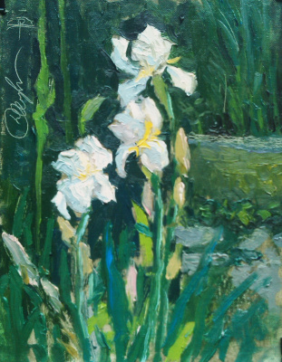 "Igor Semelin. ""Irises in the garden"""