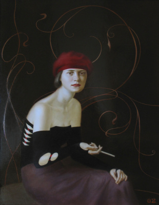 Olga Zaitseva. Art Nouveau Portrait