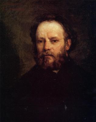 Gustave Courbet. Portrait Of Pierre Joseph Proudhon