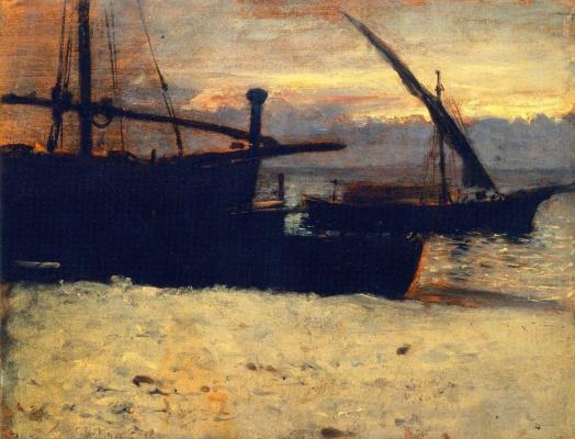 Джон Сингер Сарджент. Рыбацкие лодки