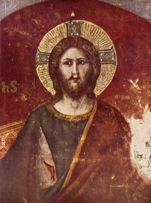 Pietro Cavallini. Last judgment, detail: Christ