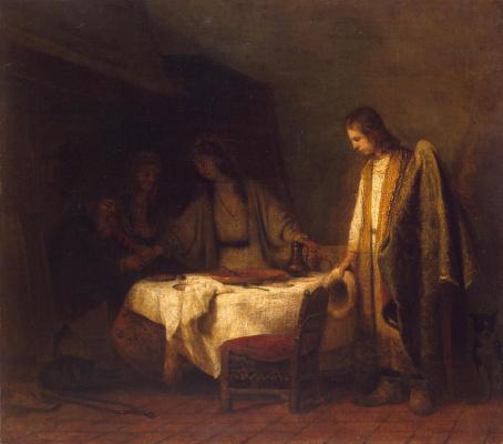 Самюэл ван Хогстратен. Прощание Товии с родителями