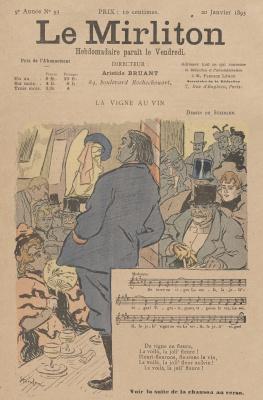 """Теофиль-Александр Стейнлен. Иллюстрация для журнала """"Мирлитон"""" № 93, 20 января 1893 года"""