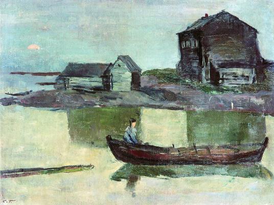 Sergey Vasilyevich Gerasimov. White Sea. Evening