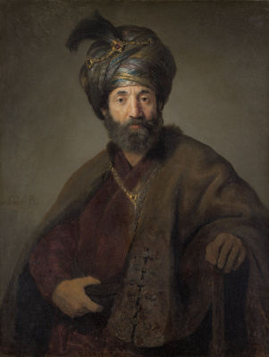 Rembrandt Harmenszoon van Rijn. Turk (Man in Oriental costume)