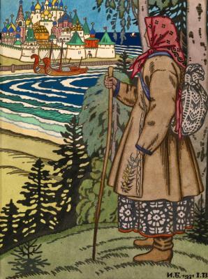 Иван Яковлевич Билибин. Иллюстрация для Сказок.  1931