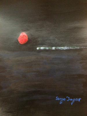 Serge Jagat. Sunset of the red moon