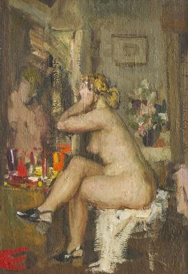 Heliy Mikhailovich Korzhev. The mirror (study)