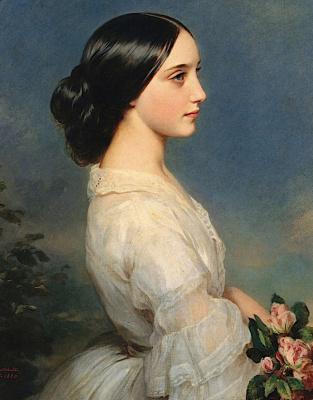 Franz Xaver Winterhalter. Carmen, the Duchess of Montmorency. Fragment