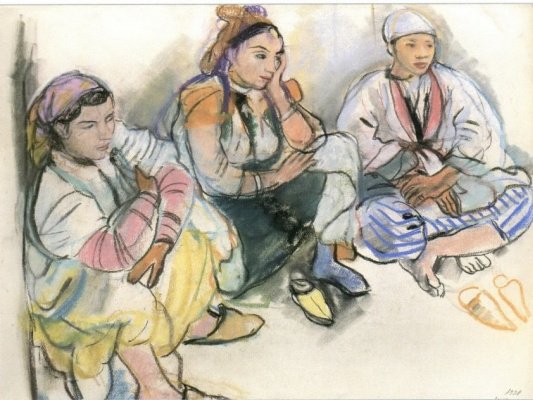 Zinaida Serebryakova. The three Moroccan