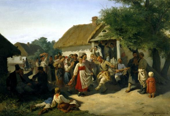 Konstantin Aleksandrovich Trutovsky. The round dance in Kursk province