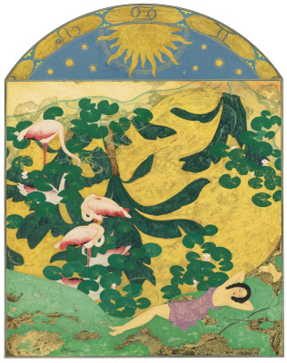 Edmund Dulac. Times of the year. Summer. gold