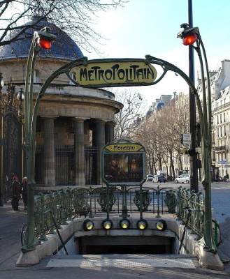 Hector Guimard. Entrance to the metro station Monceau, Paris