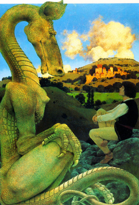 Максфилд Пэрриш. Зеленый дракон