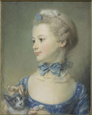 Жан-Батист Перронно. Девочка с котёнком