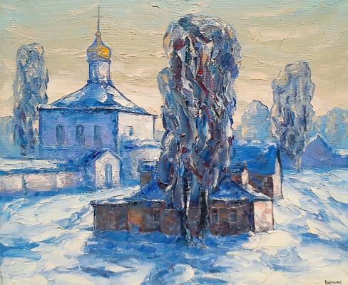 Алексей Иванович Гладких. Зимний вечер в деревне